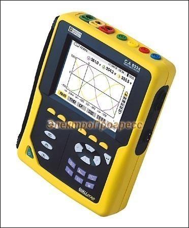 C.A 8334B + C193 - анализатор параметров электрических сетей, качества и количества электроэнергии
