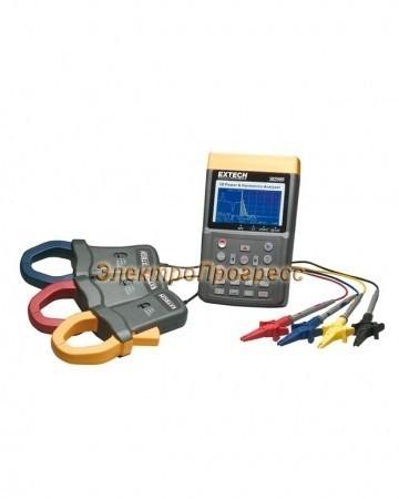 Extech 382096 - 3-х фазный анализатор мощности и гармоник на 1000А (3000A)