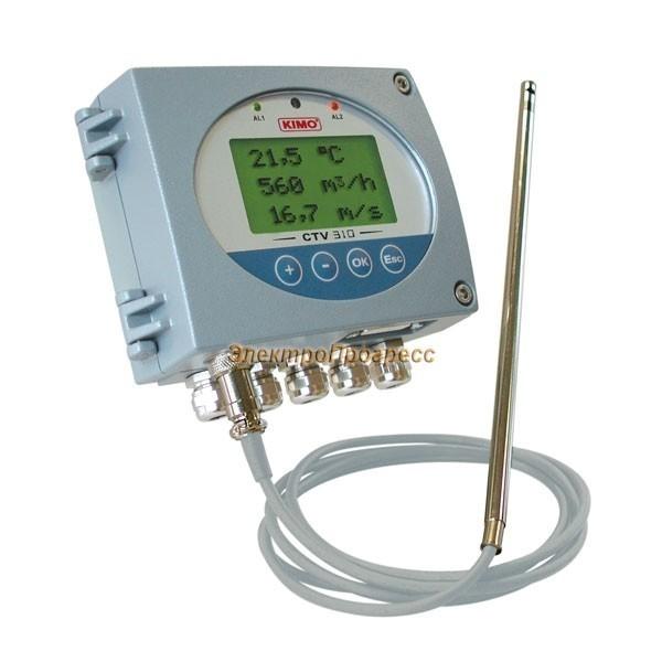 CTV 310 - датчики скорости потока воздуха и температуры, с функцией расчета объемного расхода воздуха, с сигнализацией