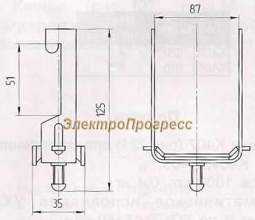 Прижимы кабельные ПКК 75х30 УХЛ2, ПКК 75х30 Т2