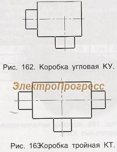 Коробки металлические литые для электропроводок