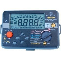 Особенности прибора KEW 3021: Диапазон измеряемого сопротивления: 0 ~ 4/ 40/ 400/ 2000 МОм Измерительное напряжение: 125/250/500/1000 В Тип питания: R6З или LR6 AA х 6 шт. Температурный режим: 0° С ~ 40° C (ОВ: не более 90%) (без образования конденсата) М