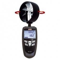 LV 130 - Портативный  термоанемометр с вращающимся зондом-крыльчаткой Ø 100 мм, прикреплённым к корпусу