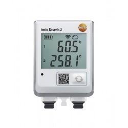 Testo Saveris 2-T3 (0572 2003) - WiFi-логгер данных с дисплеем и двумя разъемами для подключения внешних термопар