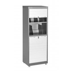 Шкаф для документов с жалюзийными створками ШДЖ-1 RAL 7035 (7012) темно-серый (светло-серый)