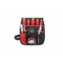 Профессиональный набор инструментов для электриков Wiha в поясной сумке, 10 предметов