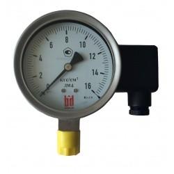 Деформационный манометр с трубчатой пружиной и электрическим выходным сигналом, тип ДМ 4