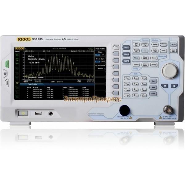 DSA815-TG анализатор спектра 1,5 ГГц с трекинг-генератором