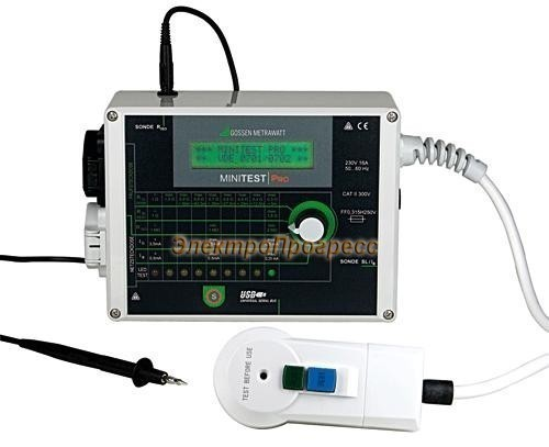 MINITEST PRO тестер параметров безопасности электрооборудования