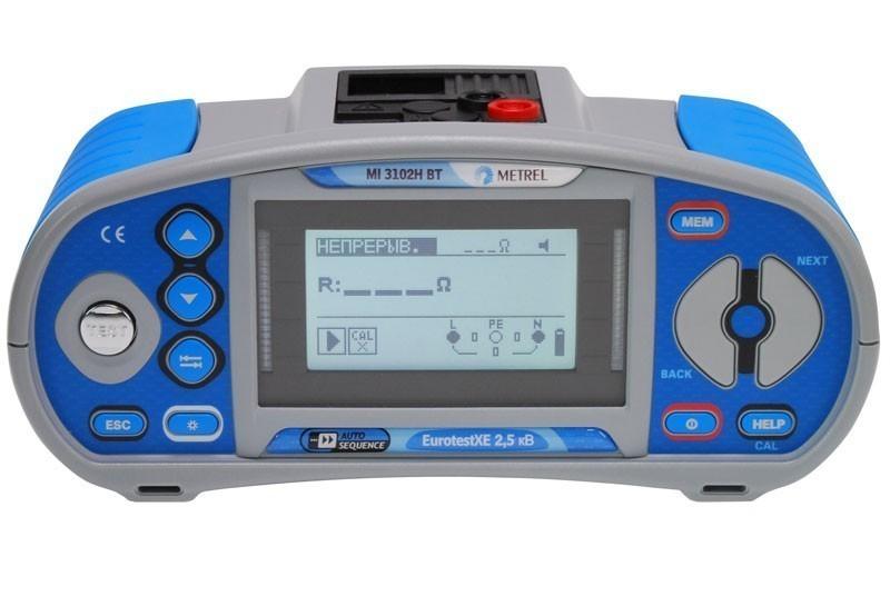 Metrel MI 3102H BT EurotestXE 2,5 кВ - многофункциональный измеритель параметров электроустановок