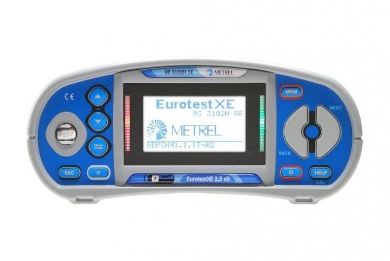 Metrel MI 3102H SE EurotestXE 2,5 кВ - многофункциональный измеритель параметров электроустановок