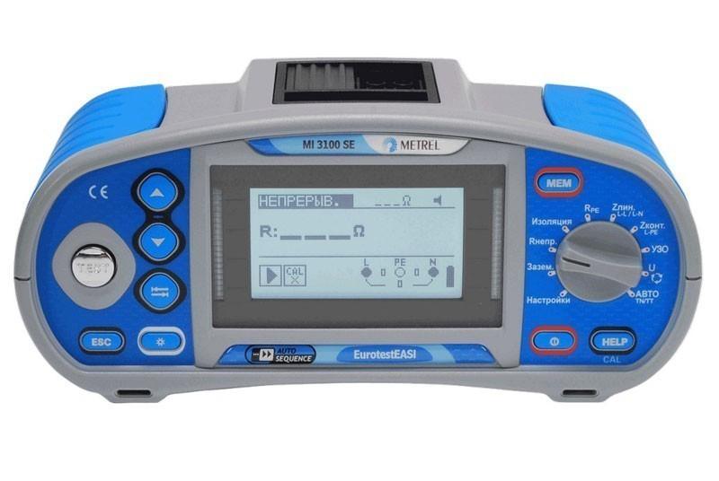 MI 3100 SE EurotstEASI - многофункциональный измеритель параметров электроустановок Metrel
