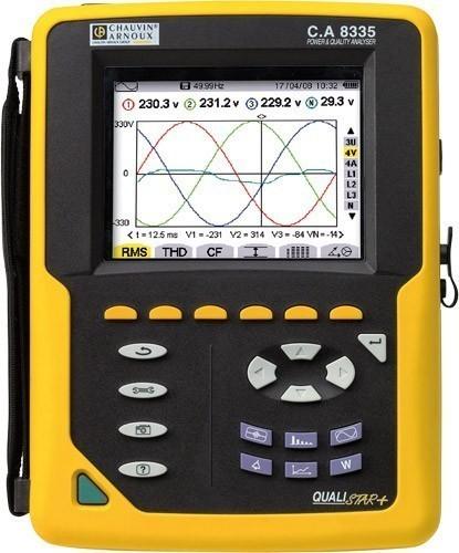 C.A 8335 QUALISTAR PLUS+AmpFlex800 - анализатор параметров электросетей (с клещами AmpFlex 800 мм)