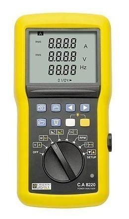 C.A 8220 - однофазный анализатор качества питания начального уровня
