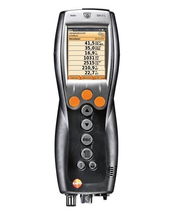 Testo 330-2 LL комплект - Анализатор дымовых газов с цветным дисплеем