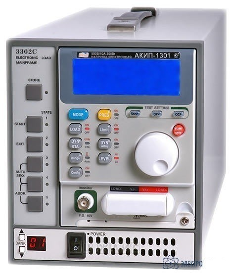 АКИП-1305А — модульная электронная нагрузка постоянного тока