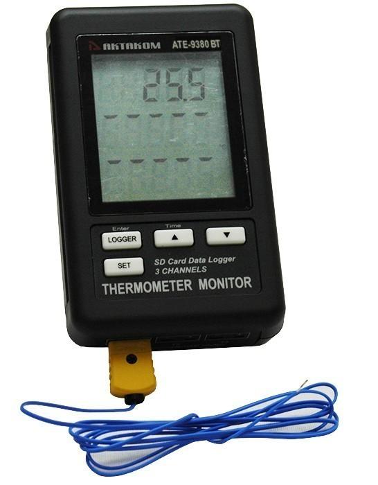 АТЕ-9380BT — измеритель-регистратор температуры с Bluetooth интерфейсом