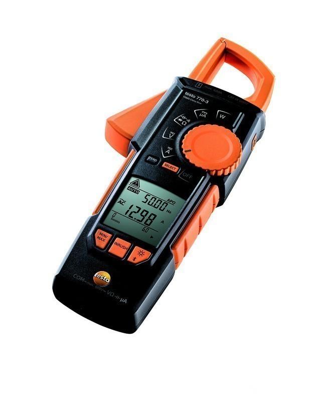 testo 770-3 — токовые клещи с функцией измерения истинного СКЗ