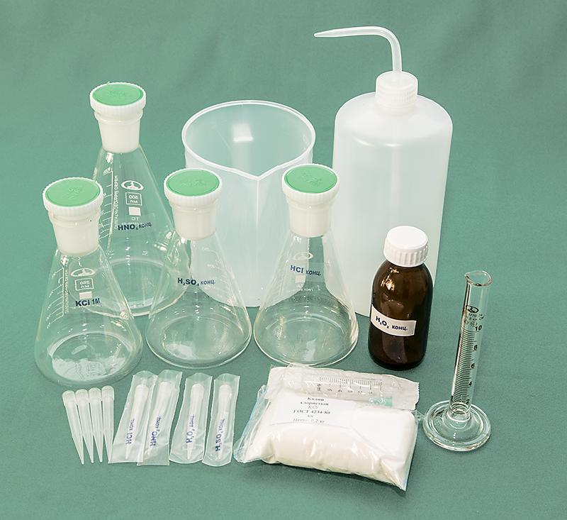 Комплект посуды для анализов методом инверсионной вольтамперометрии