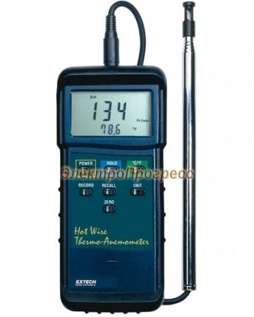 Extech 407123 - Термоанемометр с тепловой системой для работы в тяжелых условиях