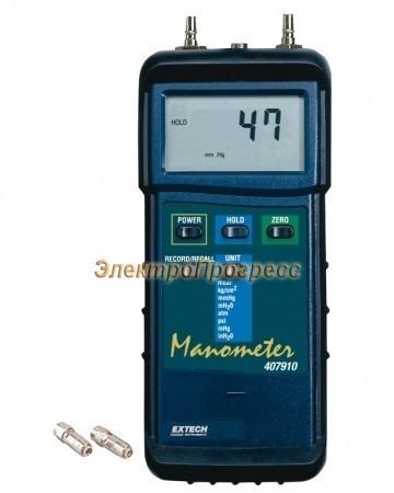 Extech 407910 - Дифференциальный манометр для работы в тяжелых условиях
