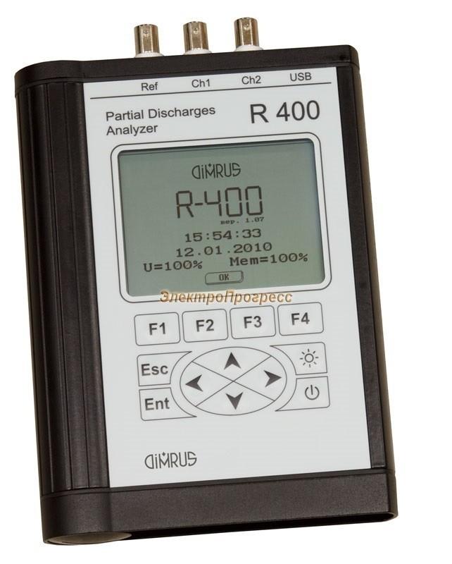 R400 - переносной прибор для измерения и анализа частичных разрядов в высоковольтной изоляции