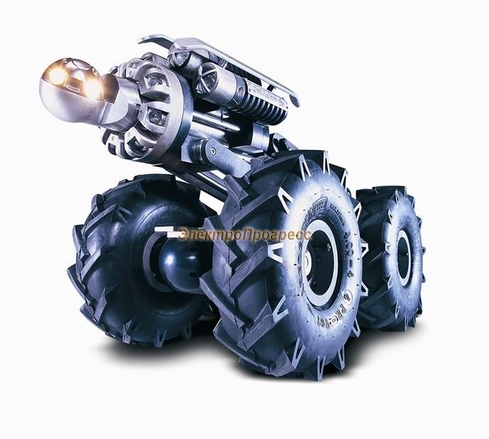 Pearpoint P448ex - пожаровзрывобезопасный трактор с возможностью разворота вокруг собственной оси и инспекцией труб