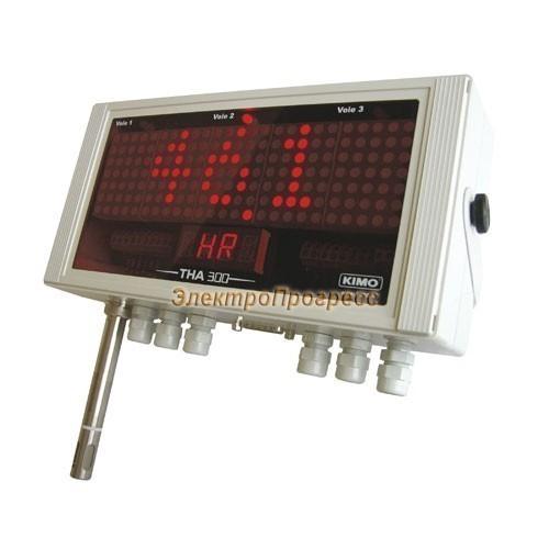 Датчики влажности и температуры с конфигурируемыми диапазонами измерения и большим дисплеем THA 300