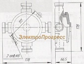 Коробка ответвительная пластмассовая У409