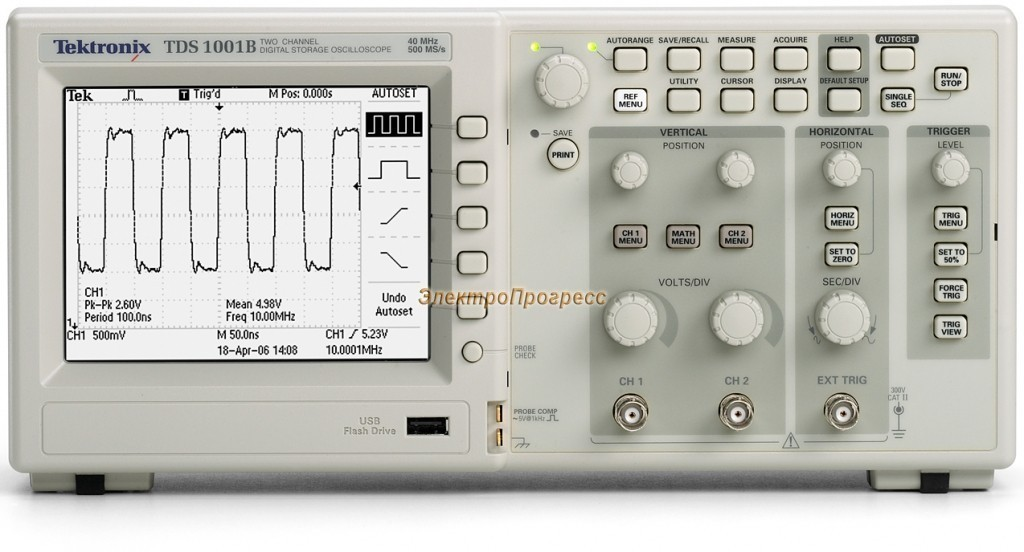 TDS1001B - цифровой осциллограф