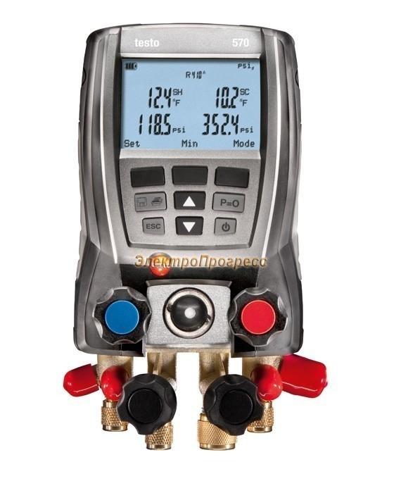 Комплект testo 570-1 (0563 5701) - анализатор работы холодильных систем с интегрированным измерением вакуума