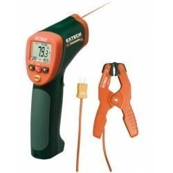 Extech 42515-T - Инфракрасный термометр широкого диапазона с термопарой-зажимом типа К на 1370°С