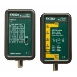 Extech CT100 - Тестер для сетевых кабелей и кабелей абонентского телевидения (CATV)