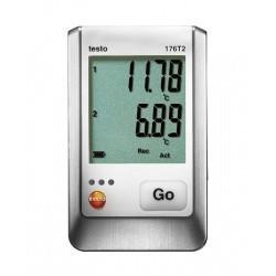 Testo 176 T2 - 2х-канальный логгер данных температуры с разъемом для высокоточного внешнего зонда (Pt100)
