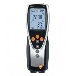 Testo 735-1 (0560 7351)  надежный и компактный термометр с разъемом для высокоточных зондов
