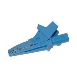 WAKROBU20K02 Зажим «Крокодил» изолированный голубой K02