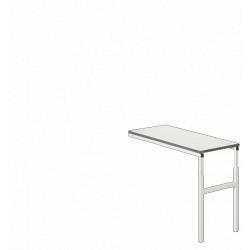Угловой стол светло-серый общепромышленное