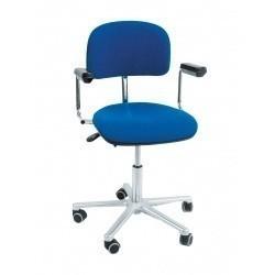 Лабораторный стул КТ 201 ESD цвет:синий/серый