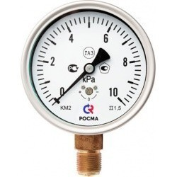 Манометры КМ для измерения низких давлений газов (РОСМА)