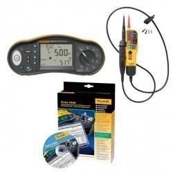 Fluke 1663/T130 KIT/D — комплект многофункционального тестера электроустановок и пробника напряжения с ПО DMS