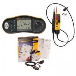 Fluke 1663/T130 KIT/F — комплект многофункционального тестера электроустановок и пробника напряжения с ПО FVF