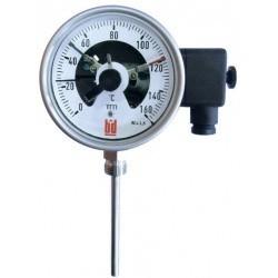 Термометр газовый показывающий с электроконтактами тип ТГП мод. Э