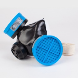 Изолирующая полумаска со сменными противогазовыми фильтрами Бриз - 2201 (РПГ)