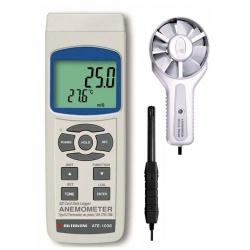 АТЕ-1038 — крыльчатый анемометр-регистратор с выносным датчиком
