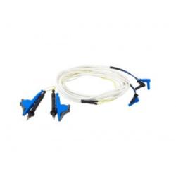 Комплект измерительных проводов длиной 3 м с разделенными токовыми зажимами типа «крокодил» и потенциальными щупами