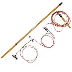 ЗПП-110Н — заземление переносное для распределительных устройств 3-х фазное до 110кВ с одной штангой