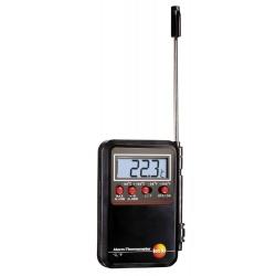 Testo мини-термометр с проникающим зондом и сигналом тревоги — для измерения температуры воздуха, жидкостей, порошкообразных и сыпучих материалов