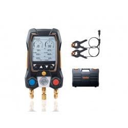 testо 550s комплект 1 в кейсе (0564 5501) - умный цифровой манометрический коллектор и зонды-зажимы температуры с фиксированным кабелем